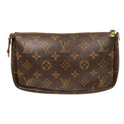 Louis Vuitton Monogram Canvas Leather Pochette Bag