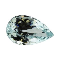 5.58 ct.Natural Pear Cut Aquamarine