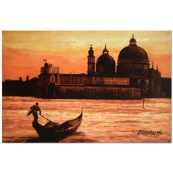 Sunset on the Grand Canal 1 by Behrens (1933-2014)