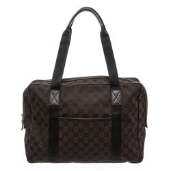 Gucci Dark Brown GG Canvas Leather Laptop Bag