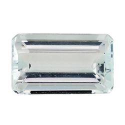 4.15 ct.Natural Emerald Cut Aquamarine