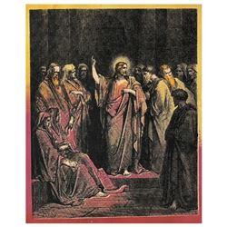 Jesus in Temple by Steve Kaufman (1960-2010)