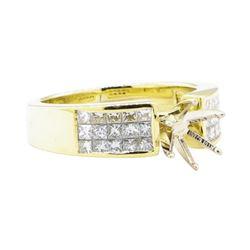 0.80 ctw Diamond Semi-Mount Ring - 18KT Yellow Gold