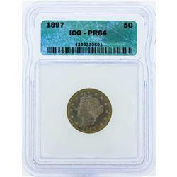 1897 Liberty V Proof Nickel Coin ICG PR64