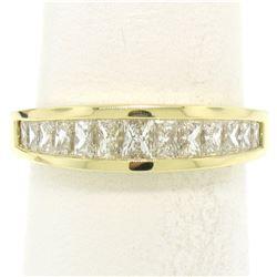 Honora 18K Gold 1.25 ctw Channel Elongated Princess Diamond Graduated Band Ring