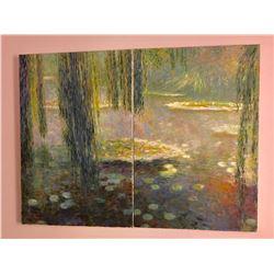 "Greg Singley (after Monet)""Waterlillies II & III""  diptych"