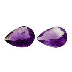 12.75 ctw. Natural Pear Cut Amethyst Parcel of Two