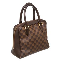 Louis Vuitton Damier Ebene Canvas Leather Triana Bag