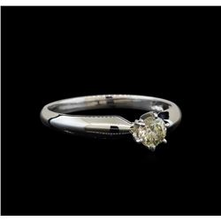 14KT White Gold 0.33 ctw Round Cut Diamond Solitaire Ring