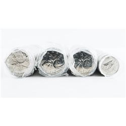 Group of (4) Rolls Canada Coins - 3x 25 cent and 1