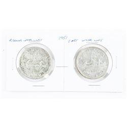 Lot (2) Canada 1951 Silver Dollars - RWL/SWL