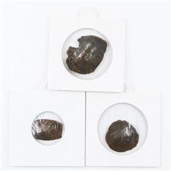 Lot (3) Roman Byzantine - Bronze Cup Shape Coins -