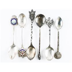 Estate Lot (6) Sterling Silver Collector Spoon