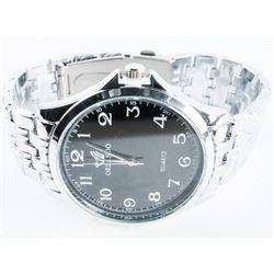 Unisex Quartz Watch Black Face - Gold Tone