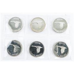 Lot (6) 1867-1967 Centennial PL Coins - 1.00