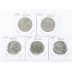 Group (5) Coins of Poland (SOE)
