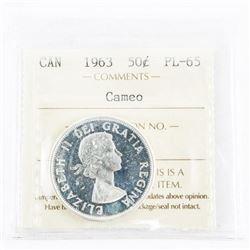 1963 Canada 50 Cent Cameo PL65. ICCS.