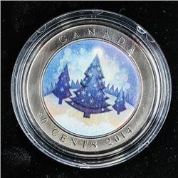 2014 RCM 50 Cents Lenticular Coin, Christmas Tree