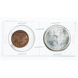 1867-1967 Silver Dollars, Plus 1867-1967 Bronze Me