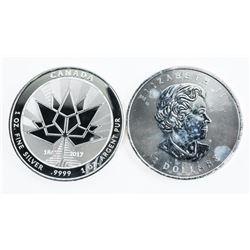 Lot (2) .999 Fine Silver Collector Bullion 2017 Ca