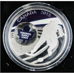.9999 Fine Silver $10.00 Coin 'Toronto Maple Leafs