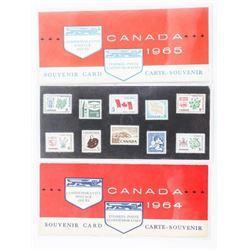 Lot (3) Canada Post Souvenir Cards: 1964-1965-1966