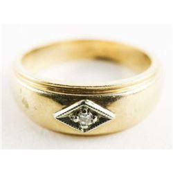 Estate 10kt Gold Diamond Ring Size 6 1/4 3.93gr