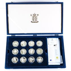 Royal Mint 22pc Collection 925 Sterling Silver Coi