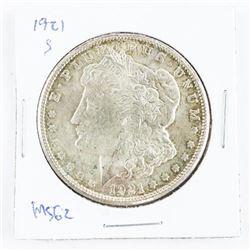 1921(S) US Morgan Dollar MS62