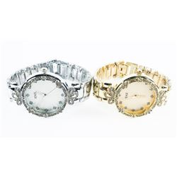 Matched Pair Ladies Fancy Watches, Gold Tone and S