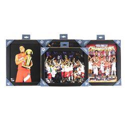 Grouping of (4) Raptors NBA Champions 8x10 Photos