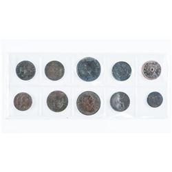 Group of (10) Early Canada Colonial Tokens
