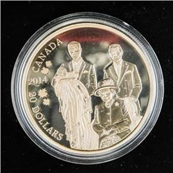 .9999 Fine Silver $20.00 Coin 'Royal Generations'