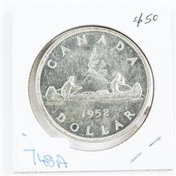 Canada 1952 Silver Dollar NWL MS62