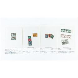 Estate Grouping Canada Post Stamps, Pairs, Jubilee