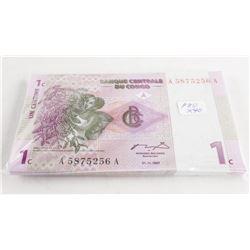 Banque Congo - 40 1997 1 cent Notes GEM UNC in Seq