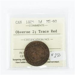 1886 Canada 1 Cent MS-60. ICCS (MER)