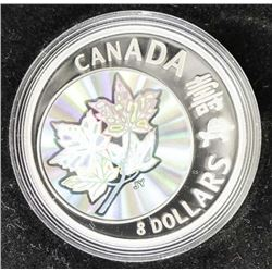 2007 .9999 Fine Silver $8.00 Coin 'Maple of Long L