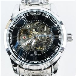 Gents 'Stockwell' Designer Watch See Thru Dial Aut