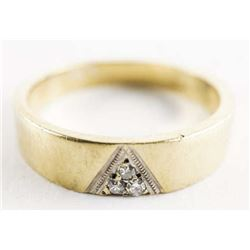 Estate 10kt Gold Diamond Band Ring Size 6.5