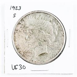 1923(S) USA Silver Peace Dollar VF30