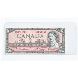Bank of Canada 1954 2.00 Modified Portrait (VF-EF)