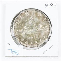 1937 Canada Silver Dollar MS-63 (SXR)