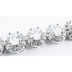 925 Sterling Silver Bracelet Oval Swarovski