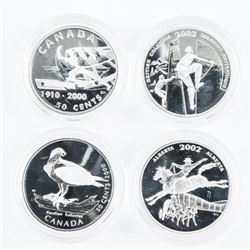 Group of (4) 925 Silver Proof 50 Cents
