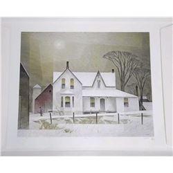 Tyron Mint A.J. Casson (1898-1992) Litho 'Winter S
