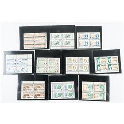 Group of (10) Canada Blocks of (4) Mint Stamps