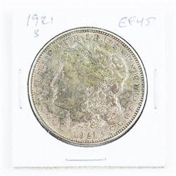 1921 (S) Silver Morgan Dollar EF45