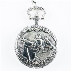 Pocket Watch with Fob Horse Case