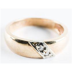 Estate 10kt Gold 2 DiamondBand Ring. Size 6.5